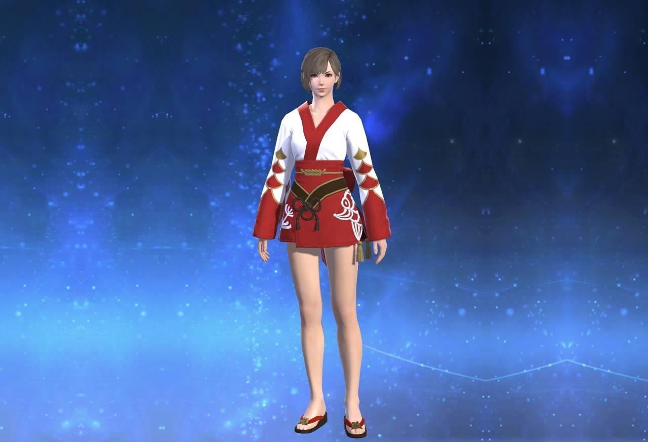 紅染姫君浴衣